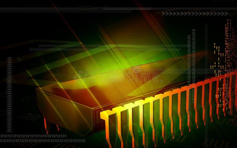 Chip de ordenador stock de ilustración