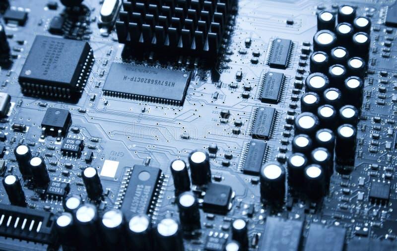 Chip de ordenador audio grande imagen de archivo libre de regalías
