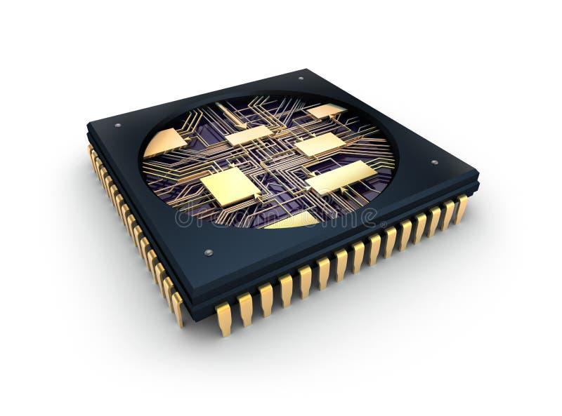 Chip del CPU Comuter illustrazione di stock
