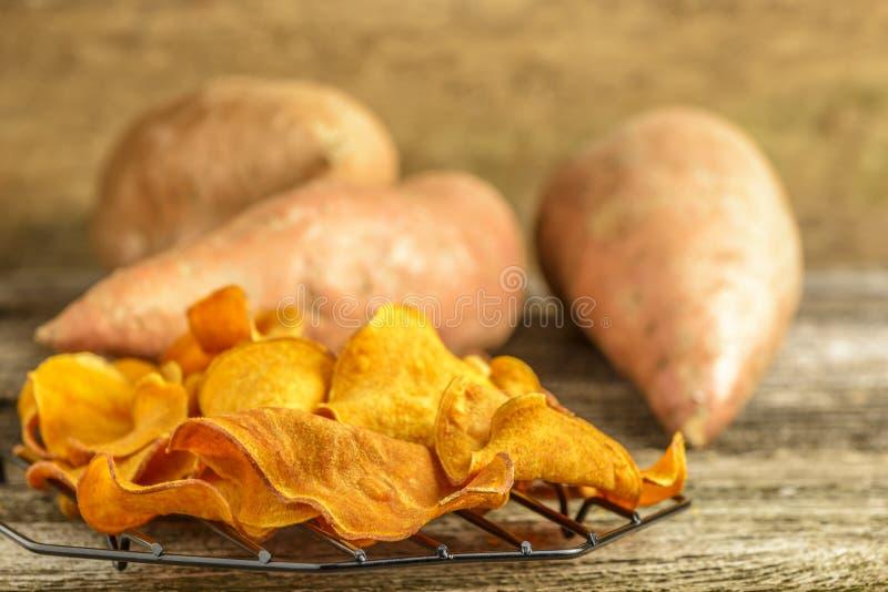 Chip della patata dolce fotografia stock libera da diritti