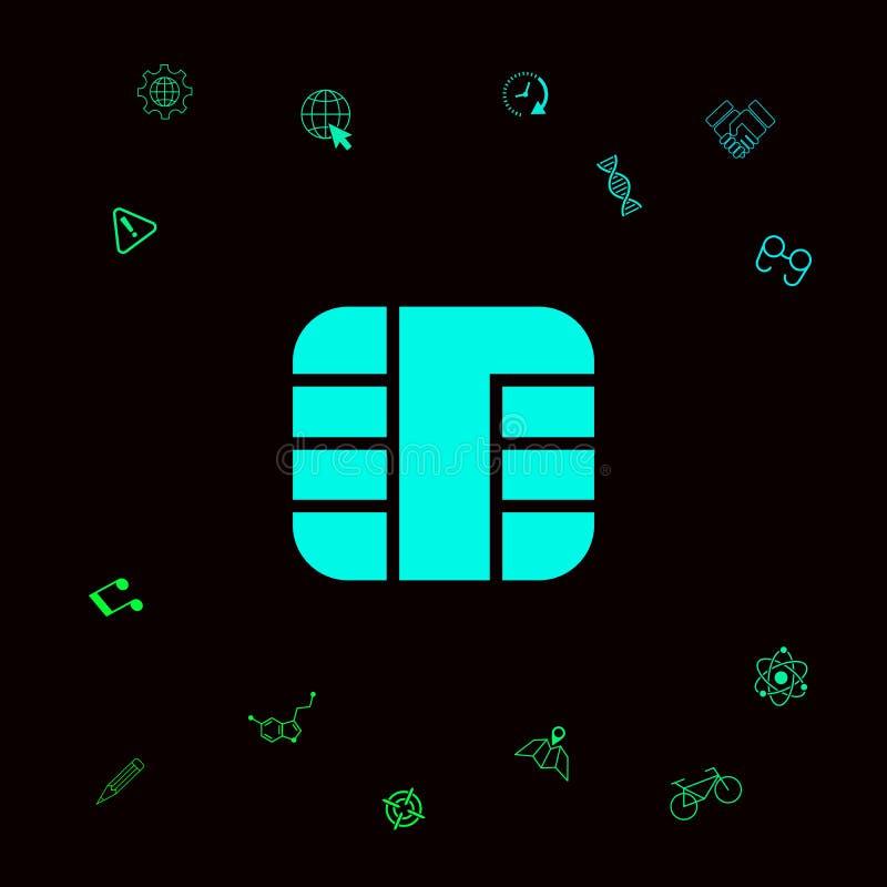Chip der Kreditkarteikone vektor abbildung