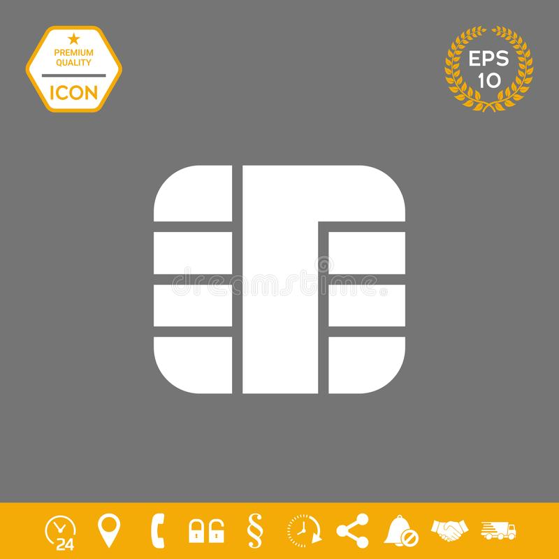 Chip der Kreditkarteikone Grafische Elemente für Ihr Design lizenzfreie abbildung