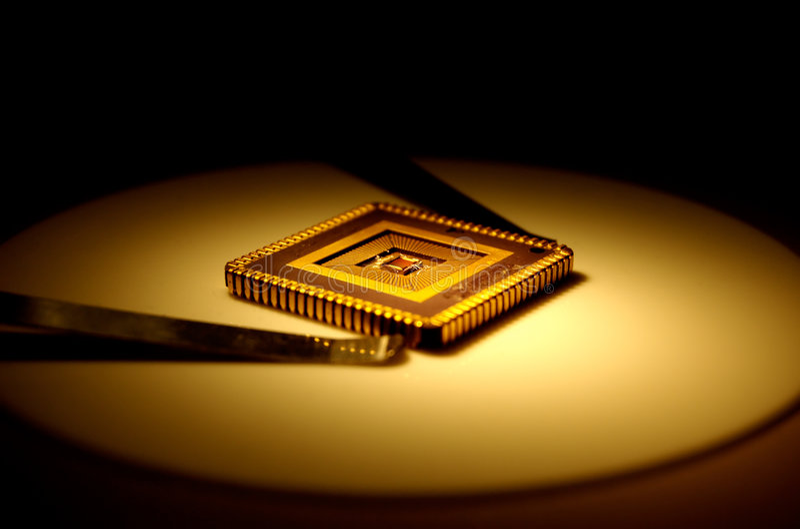 Chip di computer immagine stock libera da diritti