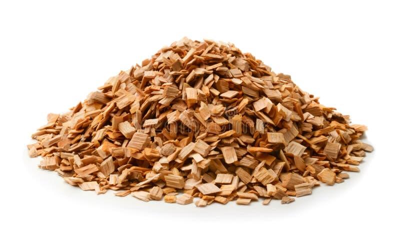 Chip di legno per il fumo isolati immagini stock