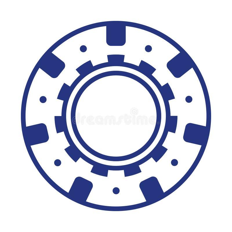 Chip di mazza blu fresco del casinò illustrazione di stock