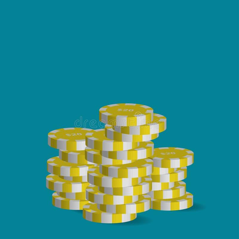 Chip di mazza degno venti dollari royalty illustrazione gratis