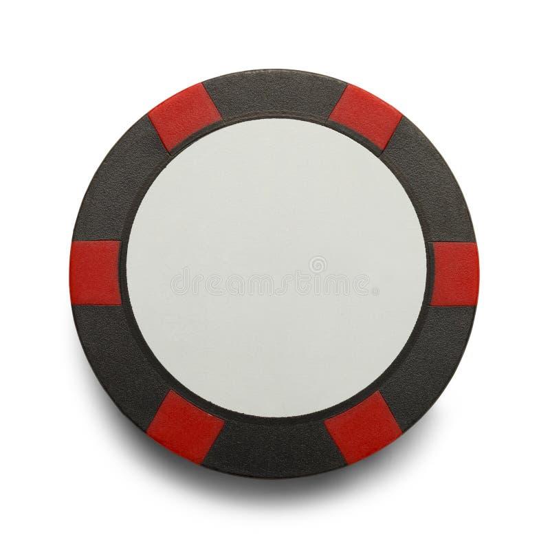 Chip di mazza nero rosso immagini stock libere da diritti