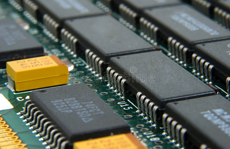 Chip di memoria immagine stock libera da diritti
