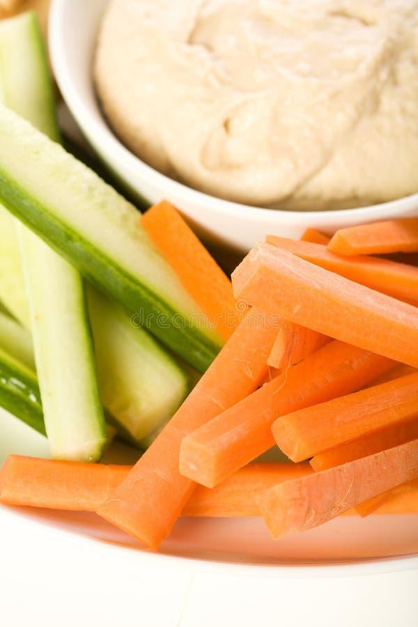 Chip di Pita e disco della verdura fotografia stock
