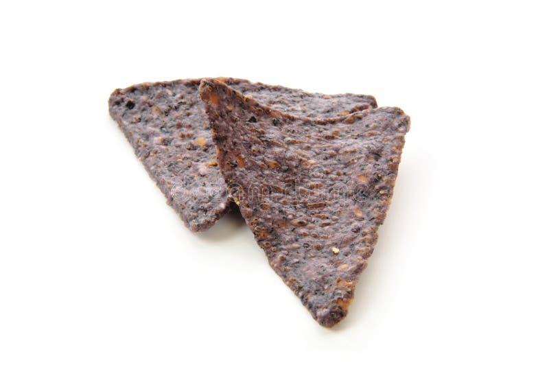 Chip di tortiglia blu del cereale fotografia stock libera da diritti