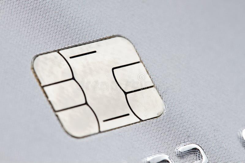 Chip di una carta di credito fotografia stock