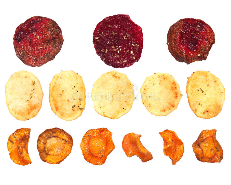 Chip di verdure casalinghi fotografia stock libera da diritti