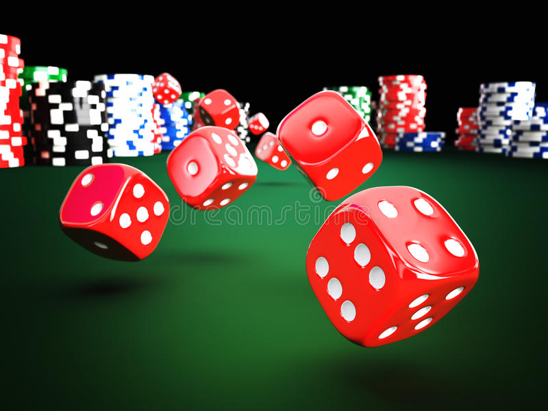 Chip and dice royalty free stock photos