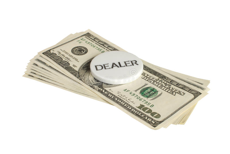 Download The chip and dollars. stock photo. Image of dealer, buck - 12868436