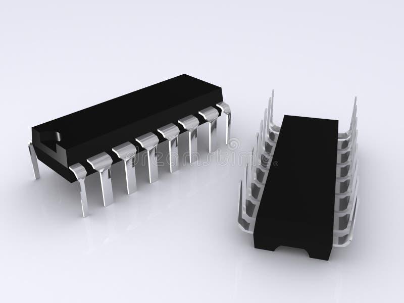 Chip elettronici illustrazione di stock
