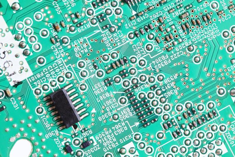 Chip elettronico a bordo fotografie stock