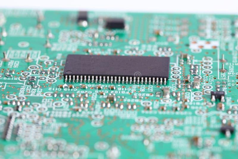 Chip elettronico a bordo immagini stock