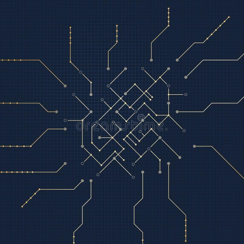 Chip-Entwurf vektor abbildung
