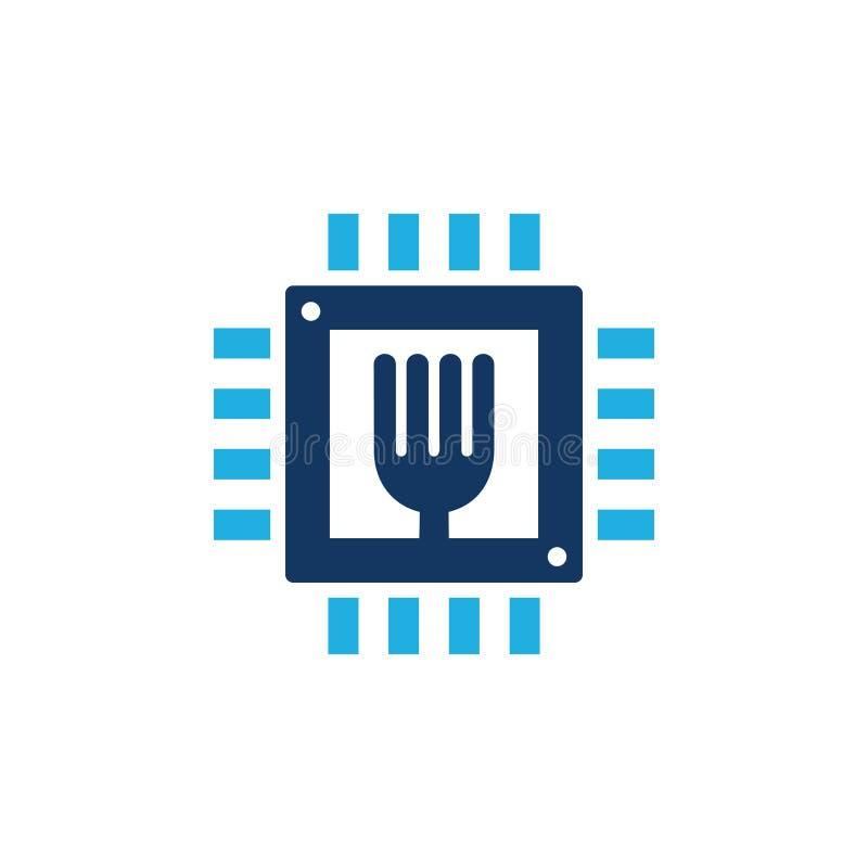 Chip Food Logo Icon Design vektor abbildung