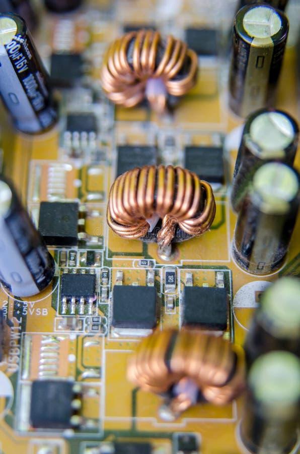 Chip i ett inbyggt - strömkrets royaltyfria foton