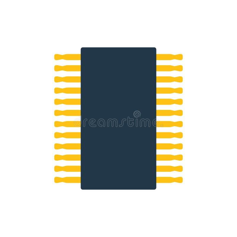 Chip Icon stock de ilustración