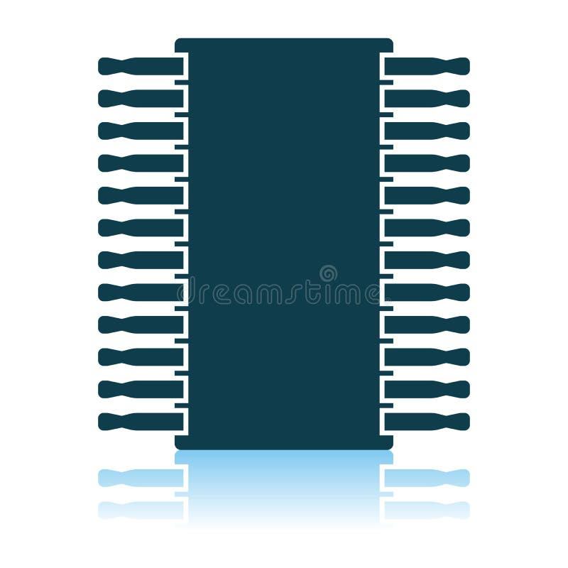 Chip Icon royalty-vrije illustratie