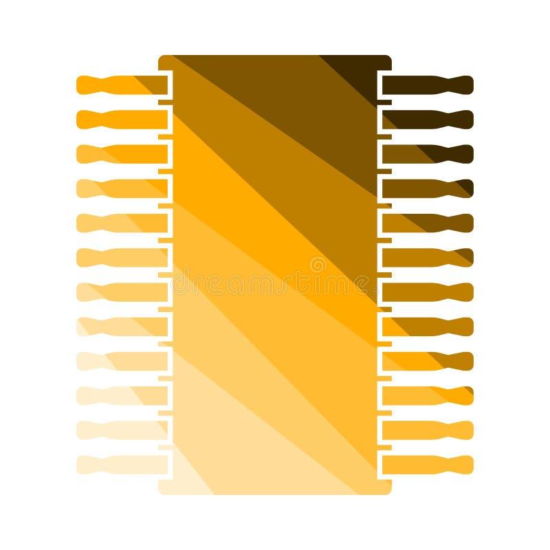 Chip Icon illustrazione vettoriale