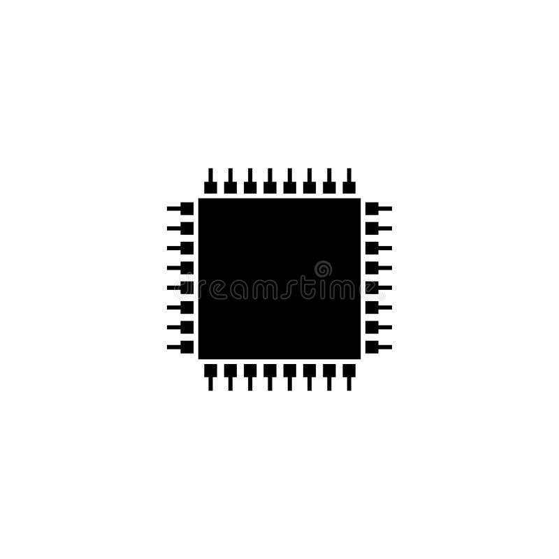 Chip Komputerowy ikony wektor royalty ilustracja