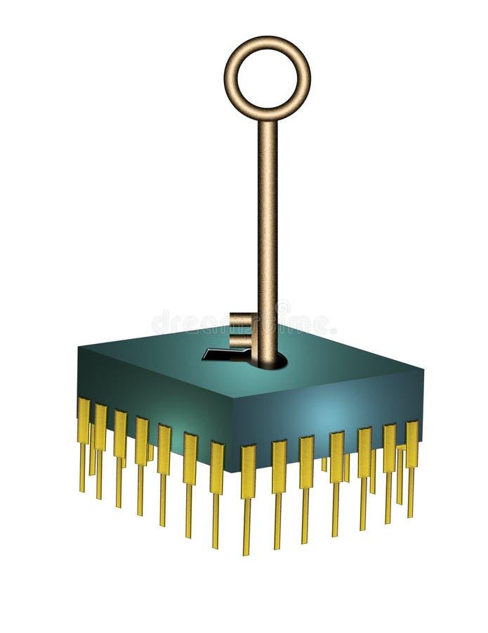 chip komputerowy klucz ilustracja wektor