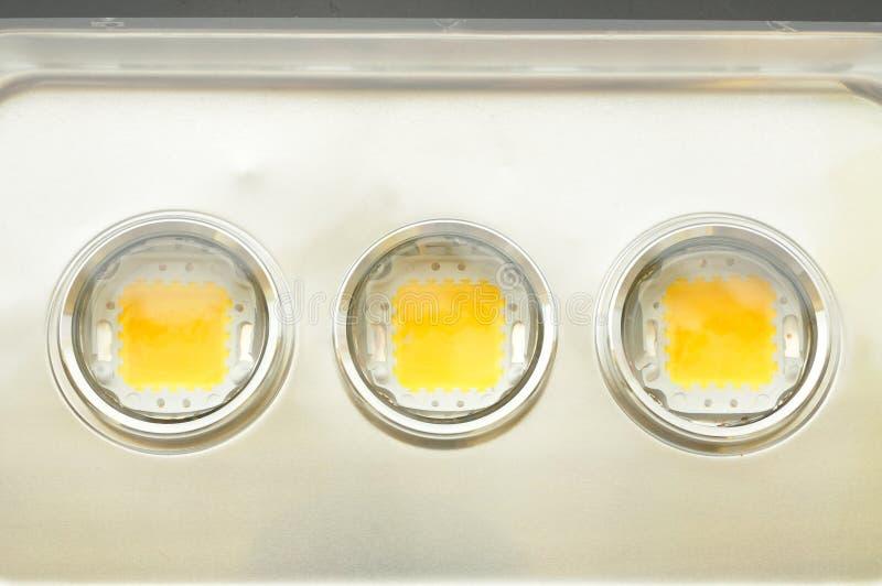 3-chip LEDs. Inside Flood light luminaire stock images