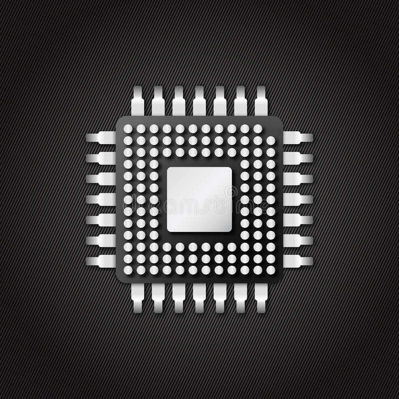 Chip microchip cpu. Icon in design royalty free illustration