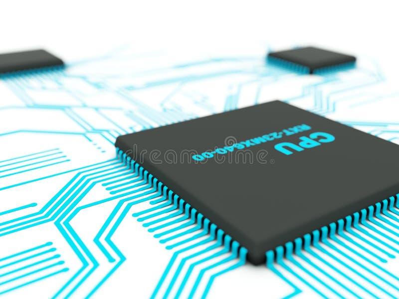 Chip mit Kontakten lizenzfreie abbildung