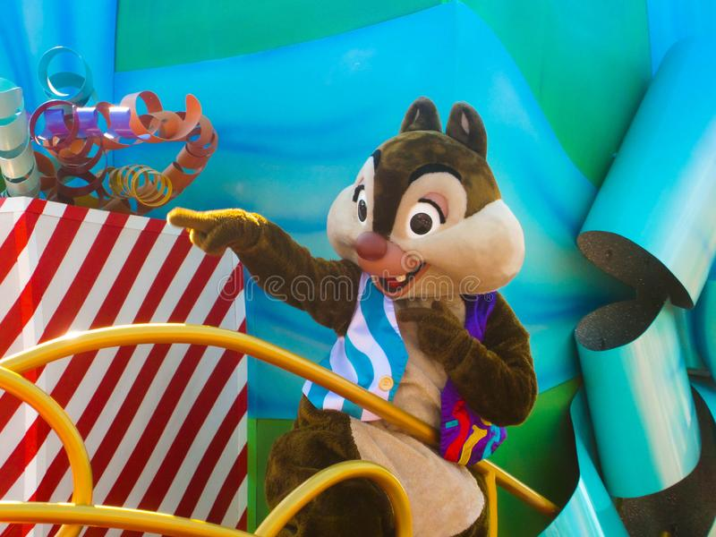 Chip 'n Dale Actor Character at Walt Disney World stock foto's
