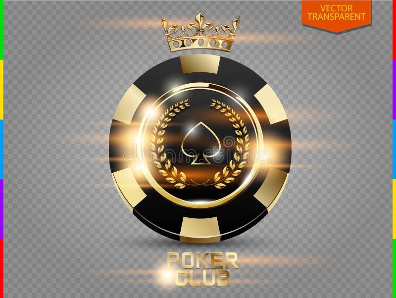 Chip nero e dorato della mazza di VIP con il vettore di effetto della luce & x28; trasparenza nel only& supplementare x29 di form royalty illustrazione gratis