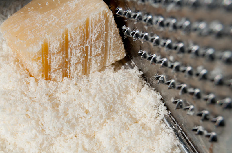 Chip Off The Fresh Parmesan. Stock Photo