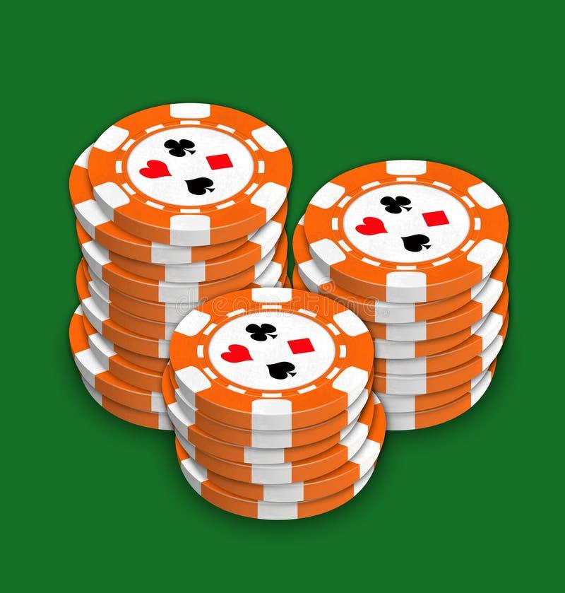 Chip per il gioco una mazza e delle roulette royalty illustrazione gratis