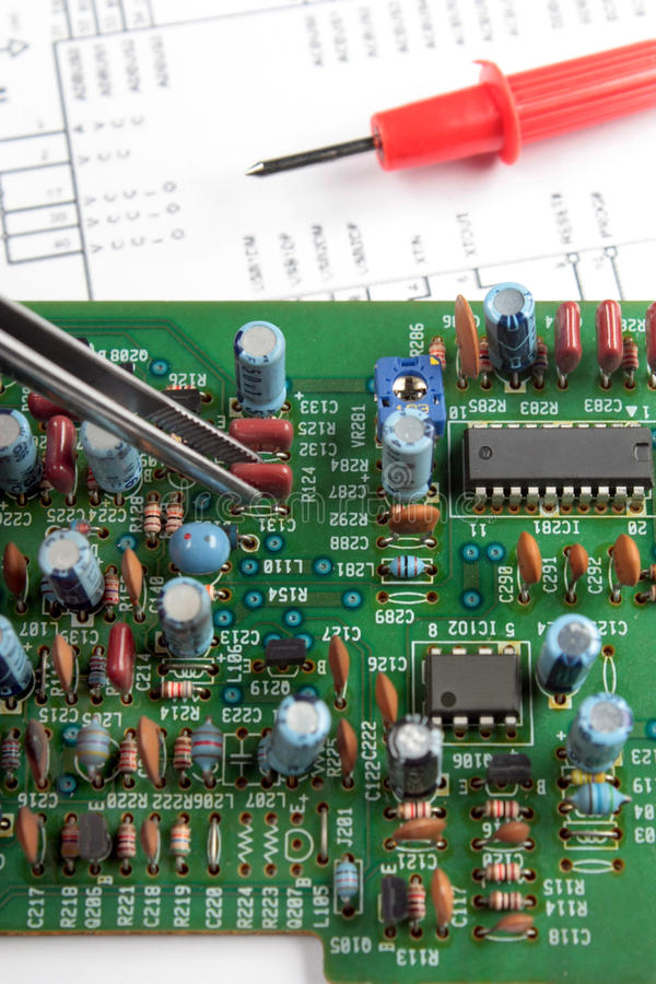 Download Chip And Printed Circuit Board Stock Photo - Image of board, copper: 12074086