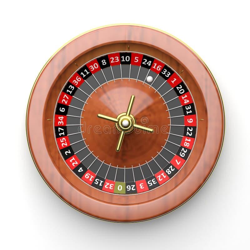 Chip & roulette di mazza royalty illustrazione gratis