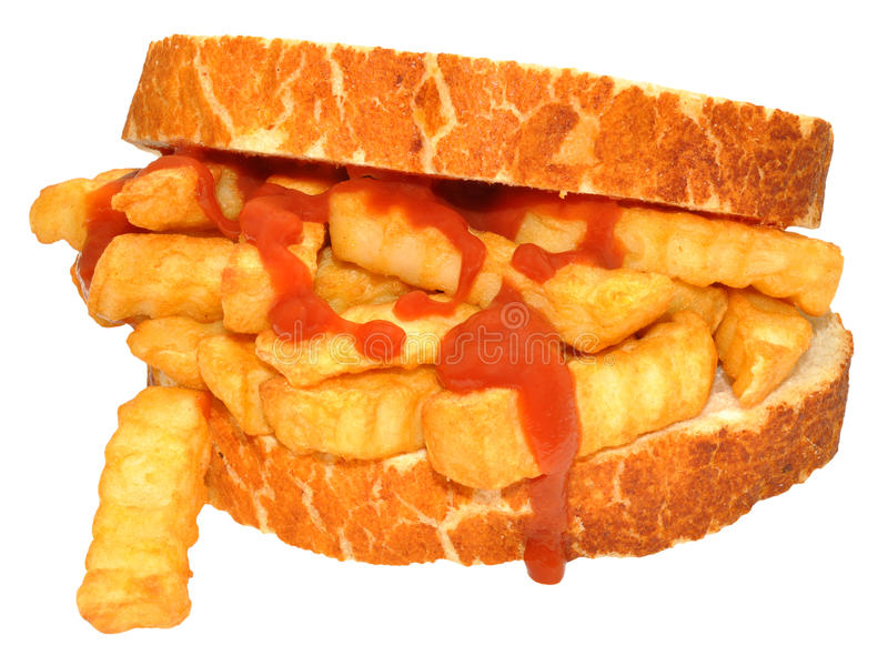 Chip Sandwich With Tomato Sauce stock afbeelding