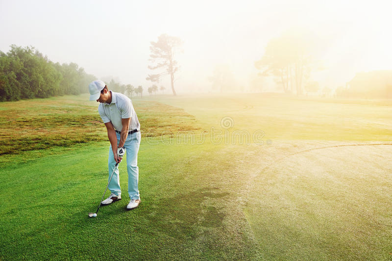 Chip shot golf royalty free stock photography
