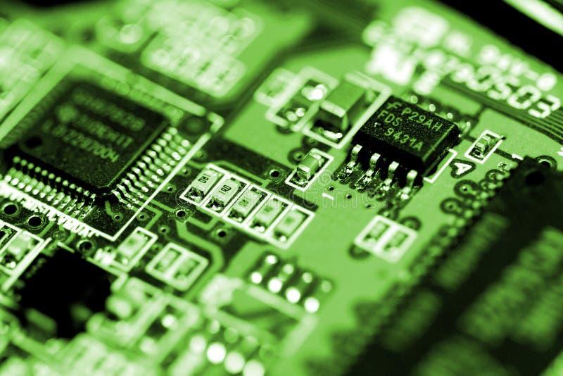 Chip verde fotografia stock libera da diritti
