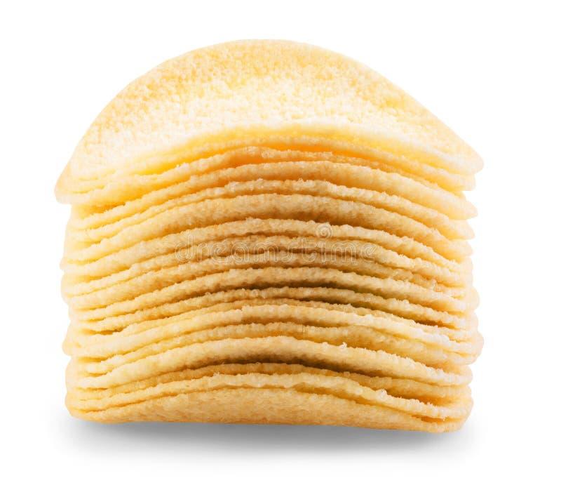 Download Chip Ziemniaka Odosobnione White Zdjęcie Stock - Obraz złożonej z smakosz, solony: 41952518