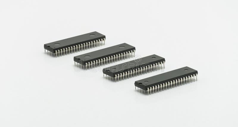 Chipa komputerowego upadu 40 szpilka na białym tle obrazy stock