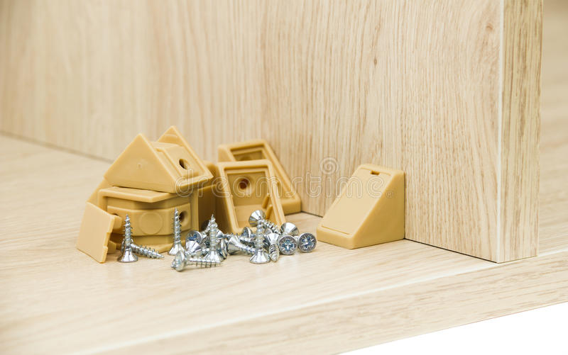 Chipboard. The chipboard with connector and royalty free stock photography