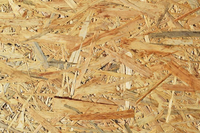 Chipboard for construction. Abstract wooden background.Chipboard for construction stock photography