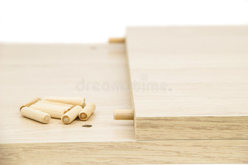 Chipboard. On the white background stock photos