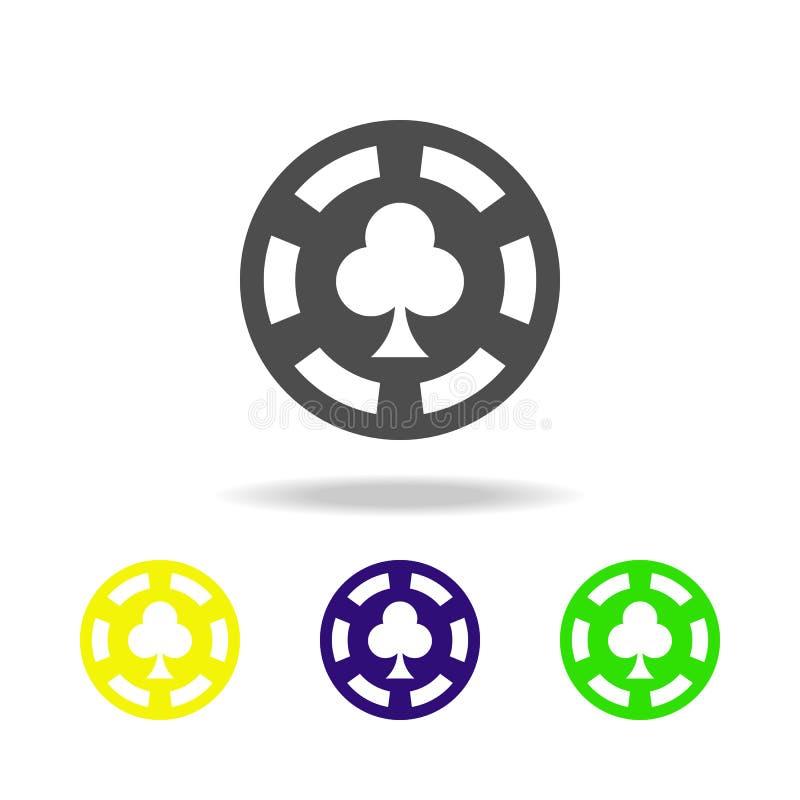 chipen i kasinodopet färgade symboler Beståndsdelen av kasinot färgade symboler Kan användas för rengöringsduken, logoen, den mob vektor illustrationer