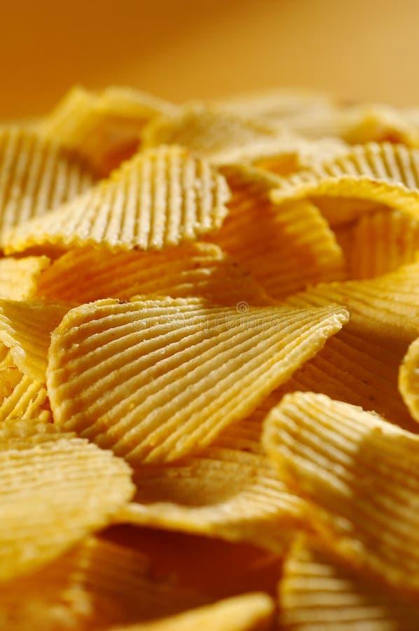chiper detail den stekte potatisen royaltyfria bilder