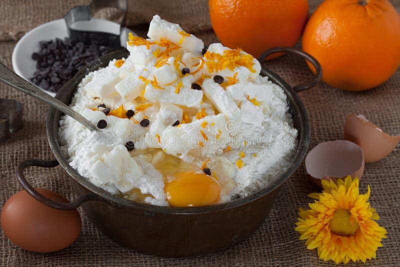 Chiper för choklad för orange piff för smörmjölägg royaltyfri bild