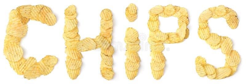 chiper gjorde potatisord royaltyfri bild